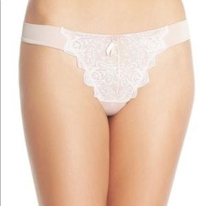FREE PEOPLE -NWT Make Your Point Embroidered Thong